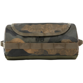 The North Face Base Camp Travel Canister S burnt olive green waxed camo print